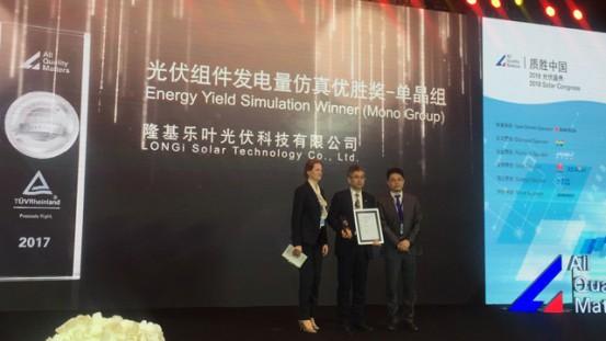 Nagroda dla LONGi Solar, Kongres Solarny 2018 w Wuxi w Chinach